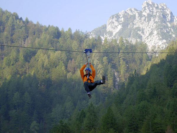 Zipline Slowenien